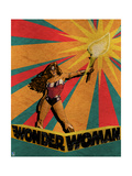 Wonder Woman Design Plastic Sign