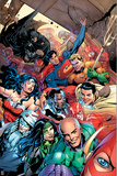Justice League - Selfie Comic Book Cover Plastic Sign