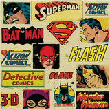 Justice League - Retro Design Posters