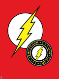 Justice League - The Flash Logos Plastic Sign
