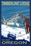 Timberline Lodge, Mt. Hood, Oregon Plastic Sign by  Lantern Press