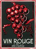 Vin Rouge De Table Wine Label - Europe Plastic Sign by  Lantern Press