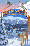 Breckenridge, Colorado Montage Plastic Sign by  Lantern Press