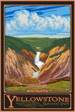Artist Point, Yellowstone National Park, Wyoming Plastskilt av  Lantern Press