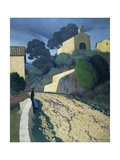Road at St Paul (Var) Giclée-Druck von Félix Vallotton