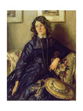 The Blue Dress Giclee Print by Sir Walter Russell