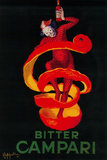 Bitter Campari Vintage Poster - Europe Cartel de plástico por  Lantern Press