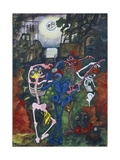 Dancing Skeletons Giclee Print by Edward Burra