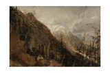 St Gothard and Mont Blanc Sketchbook [Finberg LXXV], Chamonix: Mont Blanc and the Arve Valley Giclee Print by Joseph Mallord William Turner