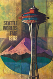 Seattle, Washington - Space Needle World's Fair Promo Poster No. 2 Plastic Sign by  Lantern Press