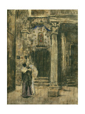 Pierrot and Woman Embracing Giclee Print by Walter Richard Sickert