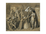 Dante's First Meeting with Beatrice Giclee Print by Simeon Solomon