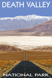 Death Valley National Park, California, Highway Scene Plastic Sign by  Lantern Press