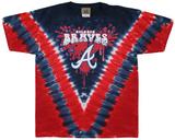 Youth: MLB- BravesThrowback V-Dye Koszulki