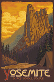 Sentinel, Yosemite National Park, California Plastic Sign by  Lantern Press