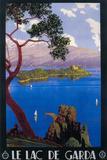 Italy - Lake Garda Travel Promotional Poster Znaki plastikowe autor Lantern Press