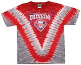 Youth: MLB- PhilliesThrowback V-Dye T-shirty
