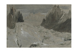 St Gothard and Mont Blanc Sketchbook [Finberg LXXV], the Mer De Glace Giclee Print by Joseph Mallord William Turner