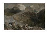 St Gothard and Mont Blanc Sketchbook [Finberg LXXV], the Source of the Arveyron Giclee Print by Joseph Mallord William Turner