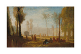 Rouen: a View from the Left Bank in the Faubourg St-Sever Giclee Print by Joseph Mallord William Turner