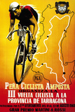Cartel de carrera ciclista Cartel de plástico por  Lantern Press