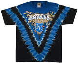 Youth: MLB- RoyalsThrowback V-Dye Shirts