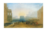 Claudian Harbour Scene: Study for 'Dido Directing the Equipment of the Fleet' Giclee Print by Joseph Mallord William Turner