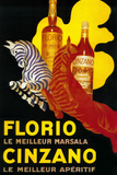 Florio Cinzano Vintage Poster - Europe Plastic Sign by  Lantern Press