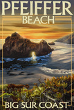 Pfeiffer Beach, California Plastic Sign by  Lantern Press