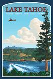 Lantern Press - Recreation, Lake Tahoe, California - Plastik Tabelalar