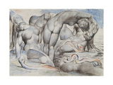 Illustrations to Dante's 'Divine Comedy', the Punishment of the Thieves Giclée-tryk af William Blake