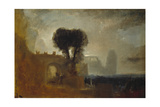 Archway with Trees by the Sea; Sketch for 'The Parting of Hero and Leander' Giclee Print by Joseph Mallord William Turner