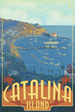 Catalina Island, California, Travel Scene Plastic Sign by  Lantern Press