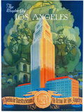 Los Angeles Promotional Poster - Los Angeles, CA Plastic Sign by  Lantern Press