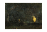 Nocturne: Black and Gold - the Fire Wheel Giclee Print by James Abbott McNeill Whistler