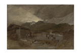 St Gothard and Mont Blanc Sketchbook [Finberg LXXV], Les Contamines, Dawn Giclee Print by Joseph Mallord William Turner