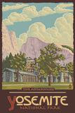Ahwahnee Lodge, Yosemite National Park, California Plastic Sign by  Lantern Press