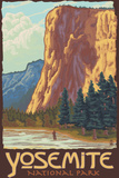 El Capitan, Yosemite National Park, California Plastic Sign by  Lantern Press