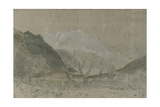 St Gothard and Mont Blanc Sketchbook [Finberg LXXV], Mont Blanc, from Sallanches Giclee Print by Joseph Mallord William Turner