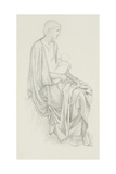 Study of the Virgin and Child for 'The Star of Bethlehem' Giclee Print by Edward Coley Burne-Jones