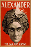 Alexander the Man who Knows Magic Poster Znaki plastikowe autor Lantern Press