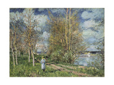 The Small Meadows in Spring Giclee Print by Alfred Sisley