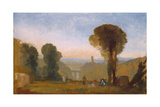 Italian Landscape with Bridge and Tower Giclee Print by Joseph Mallord William Turner