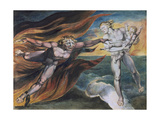 The Good and Evil Angels Giclee Print by William Blake