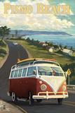 Pismo Beach, California - VW Coastal Drive Znaki plastikowe autor Lantern Press