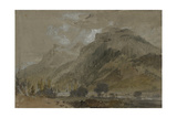 St Gothard and Mont Blanc Sketchbook [Finberg LXXV], Near Bonneville, Looking Towards Mont Blanc Giclee Print by Joseph Mallord William Turner