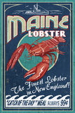 Maine Lobster Plastikskilte af Lantern Press