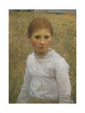Brown Eyes Giclee Print by Sir George Clausen