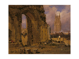 The Chapel of St Joseph of Arimathea, Glastonbury, from the South-East Giclee Print by Samuel Prout