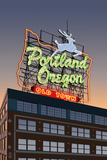 Portland, Oregon - Made in Oregon Sign, c.2009 Plastic Sign by  Lantern Press